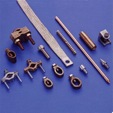 Pipe Clamps Gun Metal Copper Bronze Earth clamps Braided  Copper earthing Connectors Braids products parts components